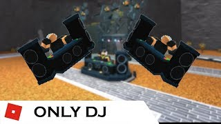 How far can You go With ONLY DJ | Tower Battles [ROBLOX]