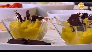 البطاطا الحلوة بالشيكولاتة الغامقة واللوز  | سالي فؤاد