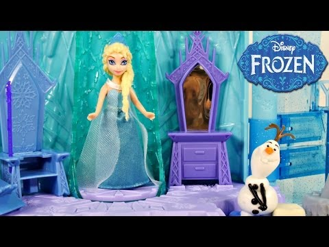 Frozen Elsa's Ice Lightup Palace Featuring Olaf Play Doh Bed Toys Review by Disney Cars Toy Club