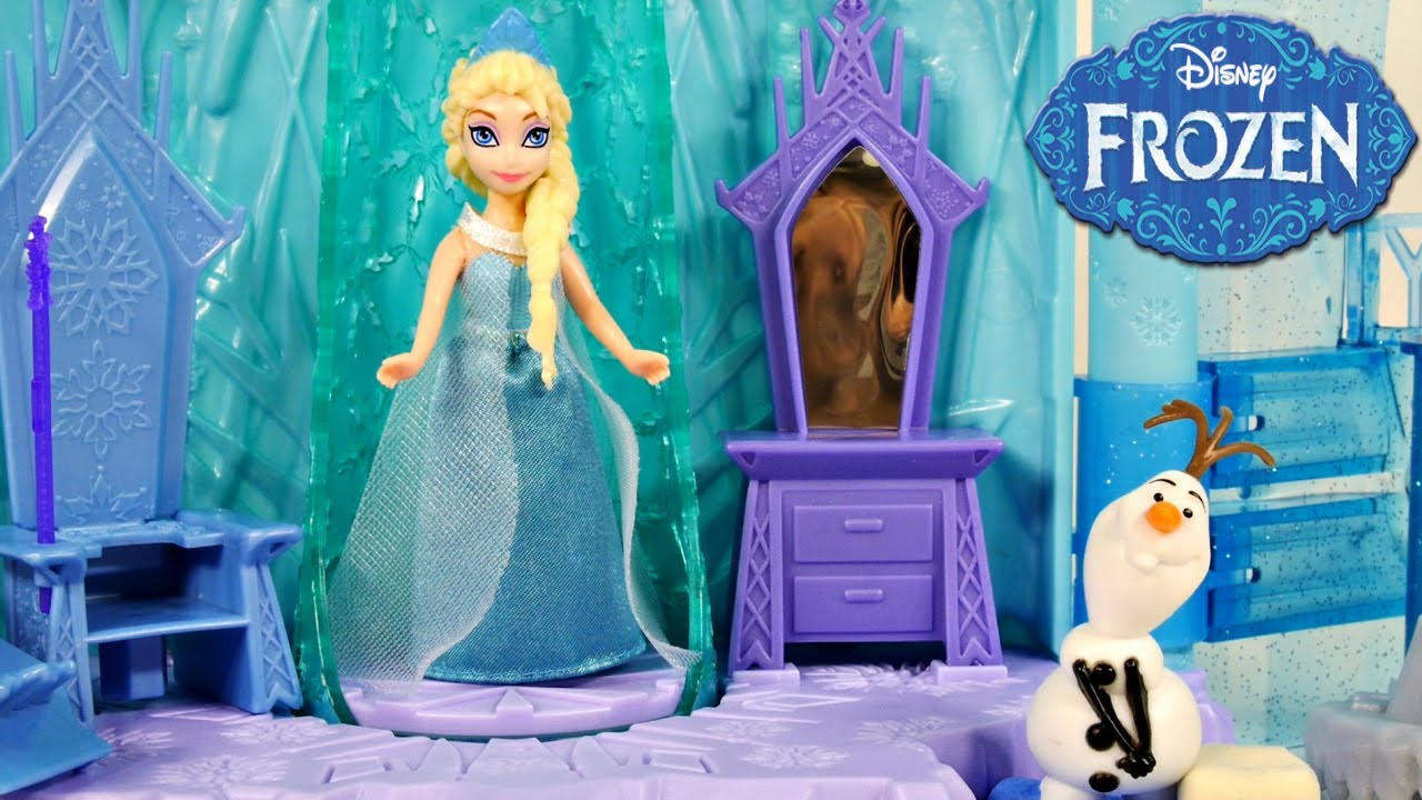Cool Frozen Elsa us Ice Lightup Palace Featuring Olaf Play Doh Bed Toys Review by Disney Cars Toy Club