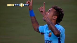 Neymar vs Manchester United - 26/07/2017 (Barcelona vs Manchester United 1-0)