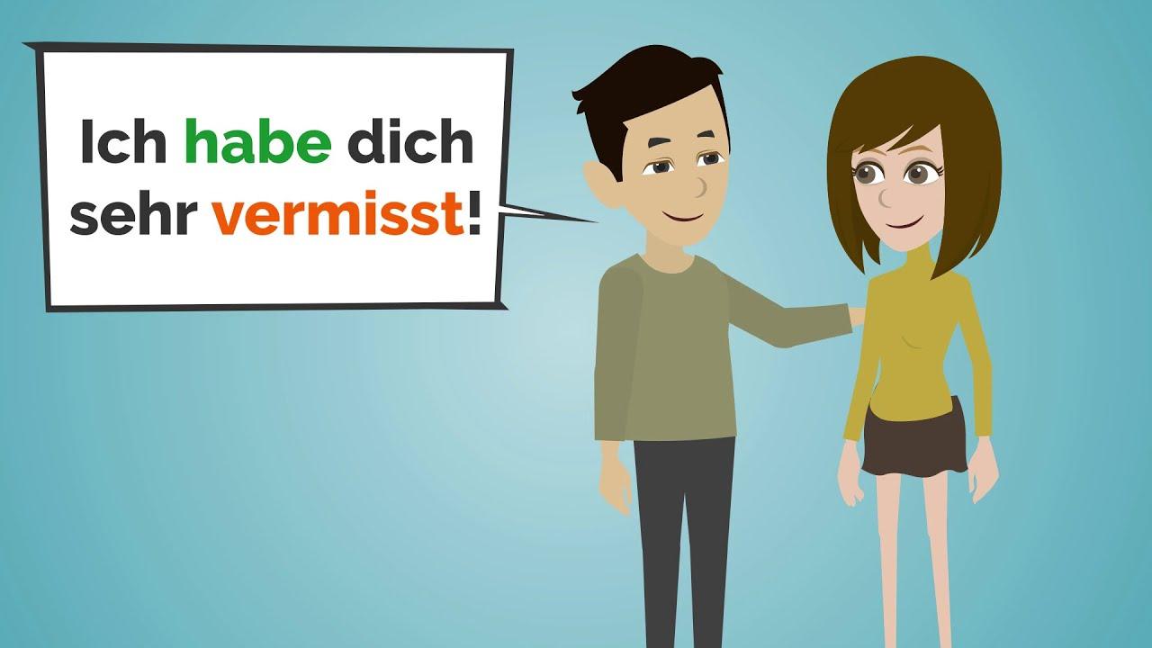 Deutsch lernen | Verben konjugieren im Perfekt und Präsens