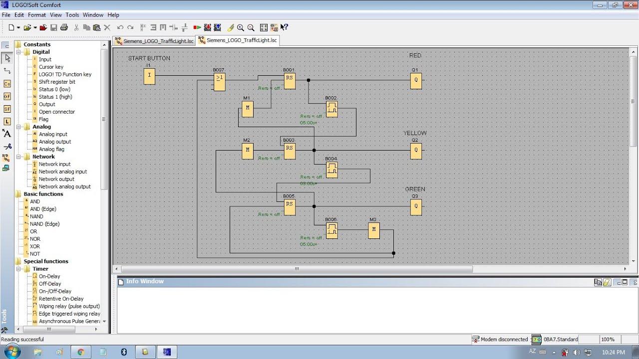 simple traffic light diagram wiring manual definition ladder logic  the