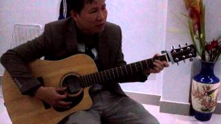 Cô hàng xóm-guitar by Bố
