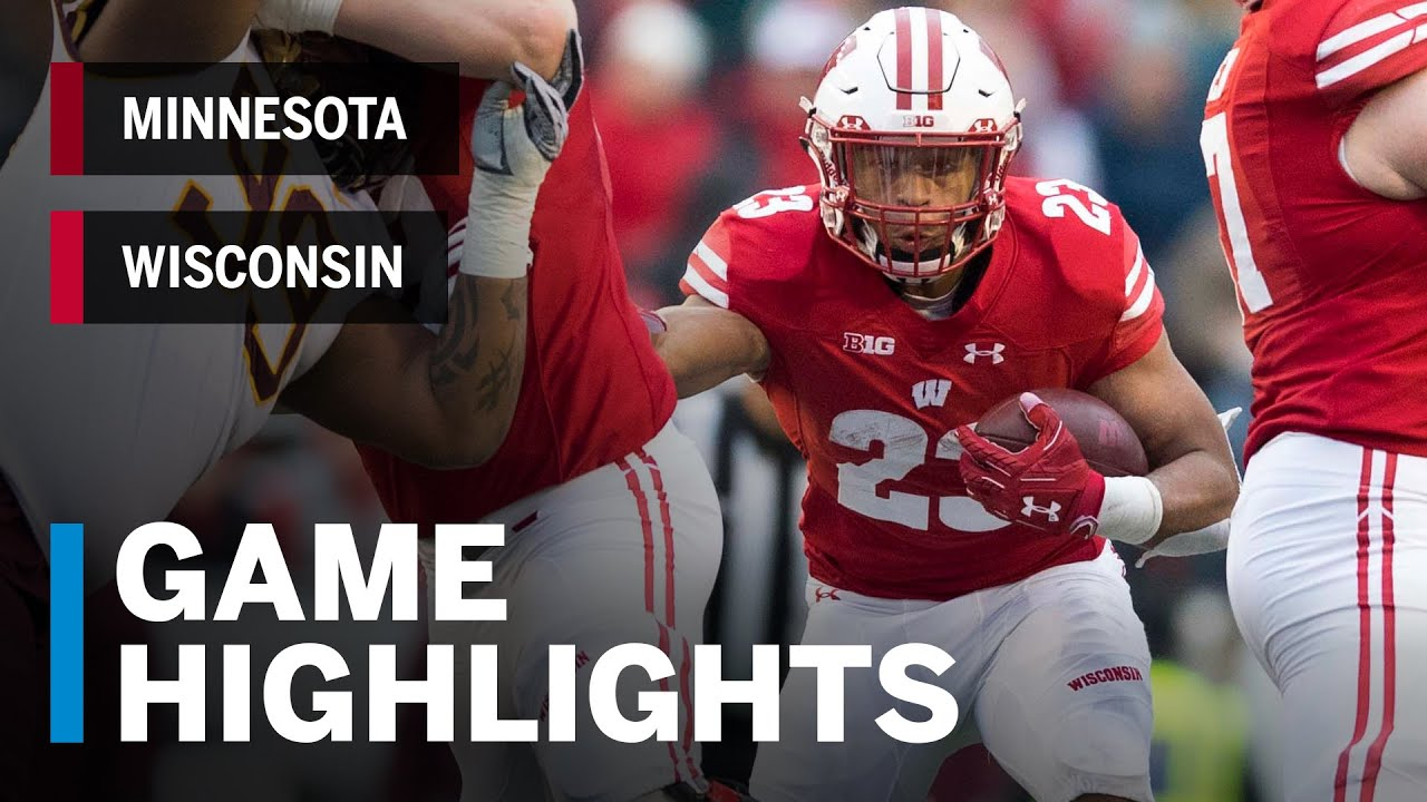 Highlights Minnesota Golden Gophers At Wisconsin Badgers Big Ten