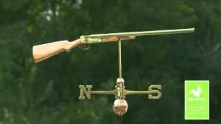 Good Directions   693p Shotgun Weathervane - Polished Copper
