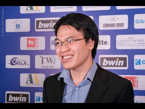Round 10 Gibraltar Chess post-game interview with Liem Le Quang