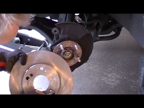 2008 honda civic front brake rotor replacement youtube. Black Bedroom Furniture Sets. Home Design Ideas