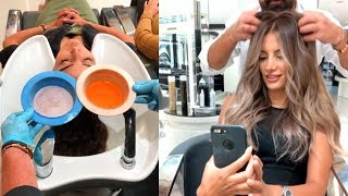 TOP 10 Hair Transformations by Professional | Amazing Hairstyles by mounir salon
