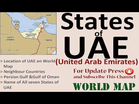States of UAE (United Arab Emirates)