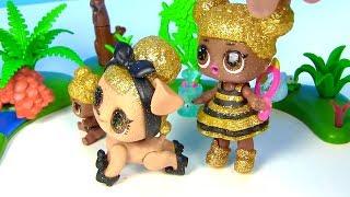 Ляльки Лол Мультик! Сімейка Квін Бі знайомиться з Барбі Бджолярем! Суперсестренки Лол Лол Surprise