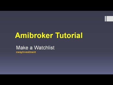 Amibroker watchlist number search