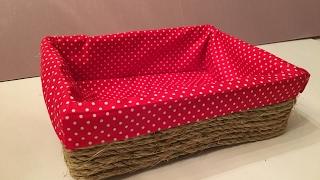 DIY Decorative Basket made out of Cardboard II No SEW TUTORIAL II DUCKINYELLOW