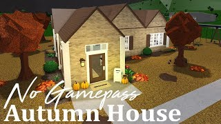 Roblox Bloxburg || No Gamepass Autumn House (52k)