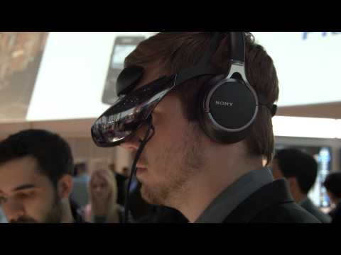 Sony Head Mounted Display HMZ-T3W - CES 2014