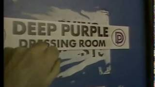 Deep Purple backstage having fun at Wembley in early 1987