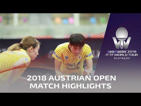 Xu Xin/Liu Shiwen vs Maharu Yoshimura/Kasumi Ishikawa   2018 ITTF Austrian Open Highlights (1/4)