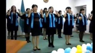 Гимн Казахстана глухонемыми На языке жестов