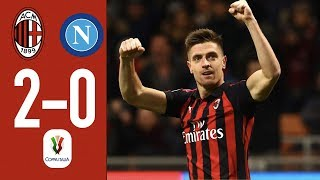 Highlights AC Milan 2-0 Napoli - Coppa Italia Quarterfinal 2018/19