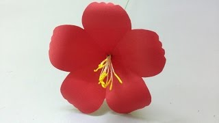How to make hibiscus paper flower | Easy origami flowers for beginners making | DIY-Paper Crafts
