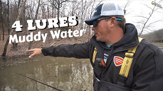 Best 4 Lures in MUDDY Water you need to know!