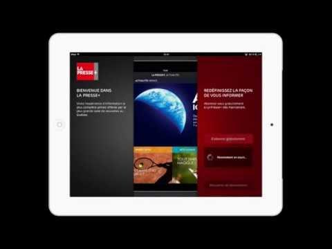 IPad - Application La Presse +