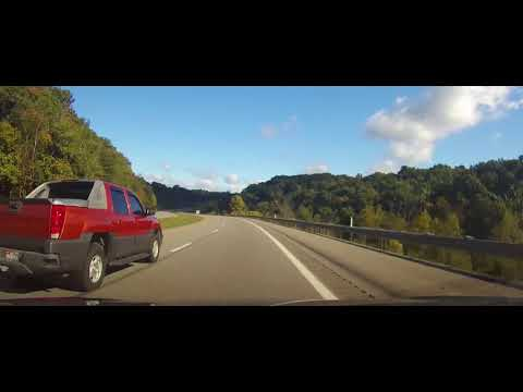 Driving on Interstate 77 from Ripley, West Virginia to Cambridge, Ohio