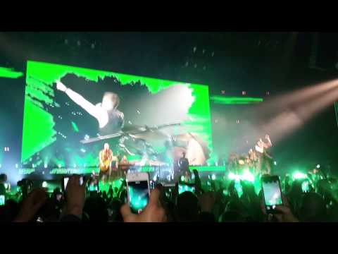 The Script - Intro/Paint The Town Green - Sheffield Motorpoint Arena - 28/02/2015
