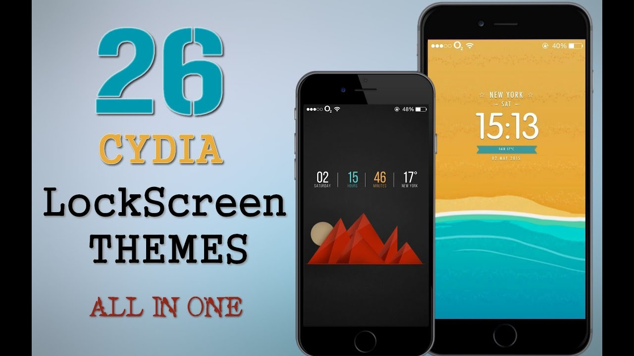 26 Amazing 2015 Cydia LockScreen Themes in One Pack - Compatible with ...