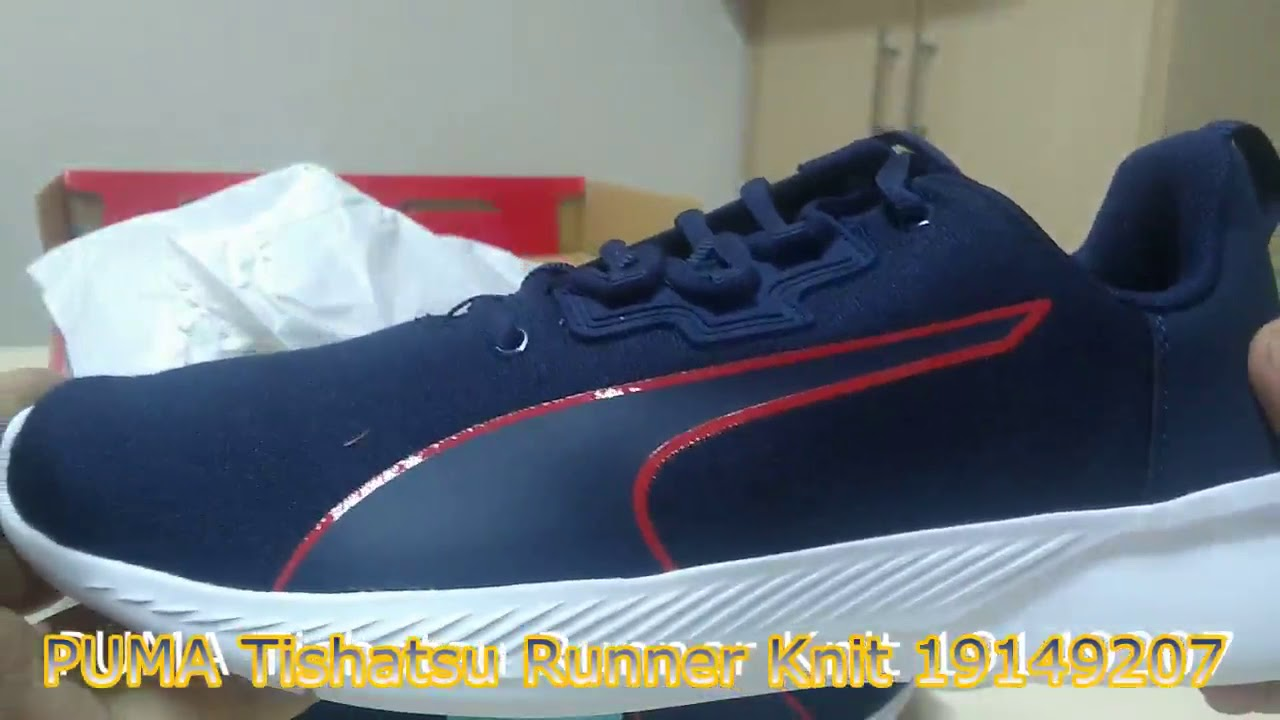 Unboxing Sneakers PUMA Tishatsu Runner Knit 19149207