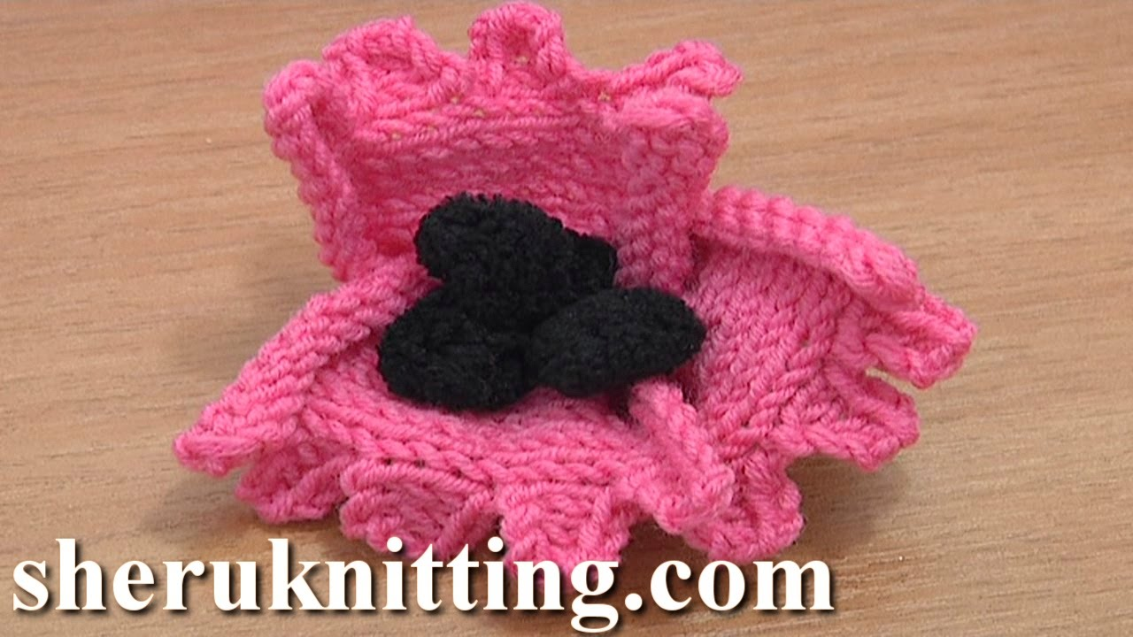 How to knit a flower tutorial 22 free knitting flower patterns how to knit a flower tutorial 22 free knitting flower patterns youtube bankloansurffo Images