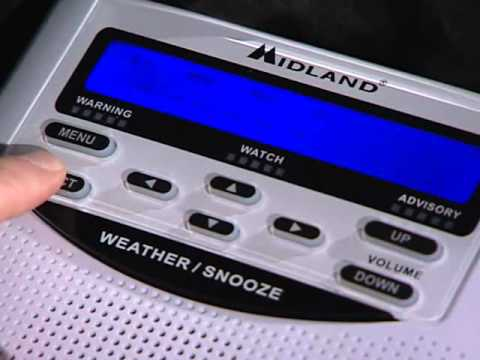 WR120 Weather Radio Programming Video
