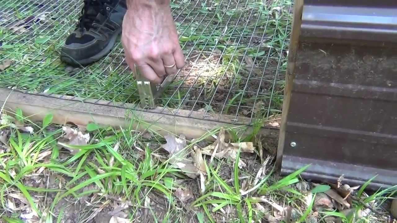 Diy Outdoor Rabbit Pen Youtube