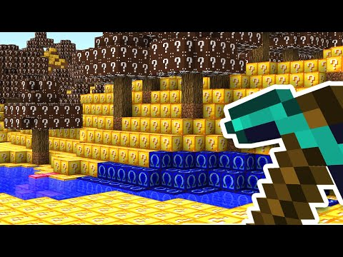 Minecraft UHC But The Entire World Is Lucky Blocks