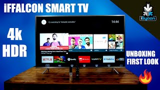 TCL iFFALCON Smart 4K TV with HDR Unboxing and First Look : Mi TV 4 Competition