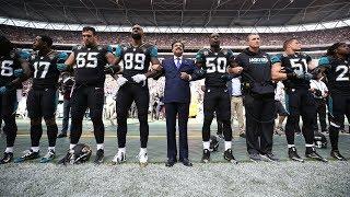 Jaguars' Owner Locks Arms with Players during National Anthem | Ravens vs. Jaguars | NFL
