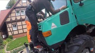 Ist der U1300 noch zu retten?   Unimog 425 Rost entfernen & Frontscheibe Einbauen   Schrauben
