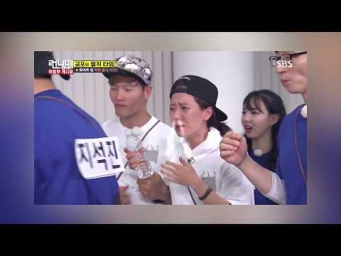 Kim Jong Kook always take care of Song Ji hyo - SpartAce Couple Moment
