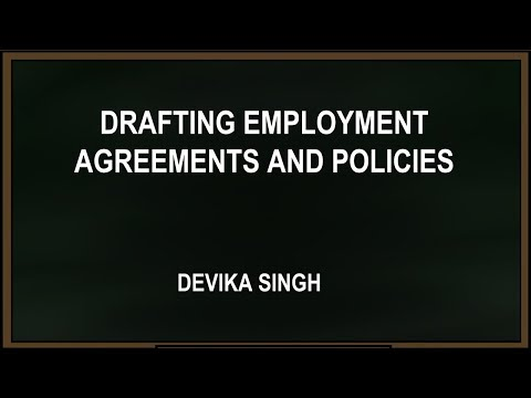 Webinar with Devika Singh Drafting employment agreements and policies