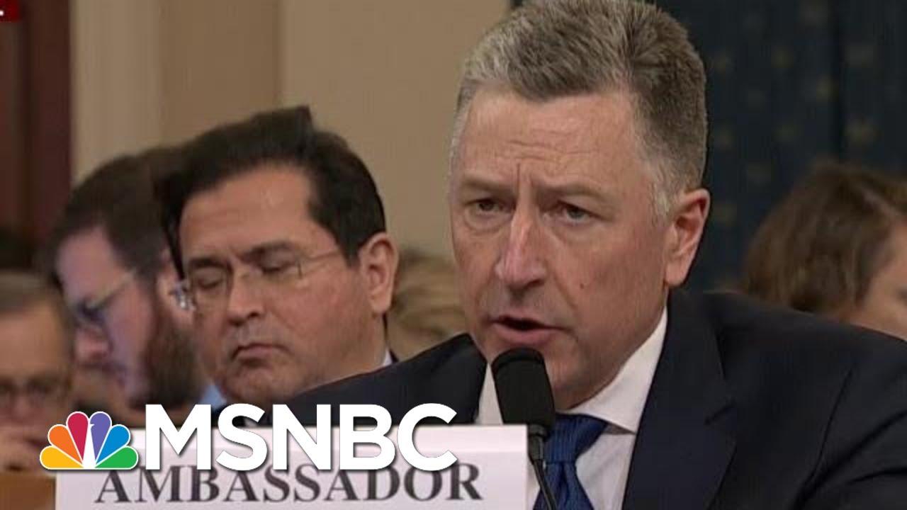Kurt Volker Revises Previous Testimony Discrepancies   Morning Joe   MSNBC