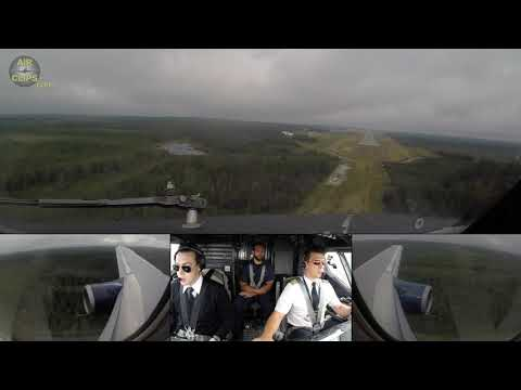 Nolinor Captain JC \u0026 F/O Pierre-Charles' B737-200 BUTTER Landing In Val-d'Or!!!  [AirClips]