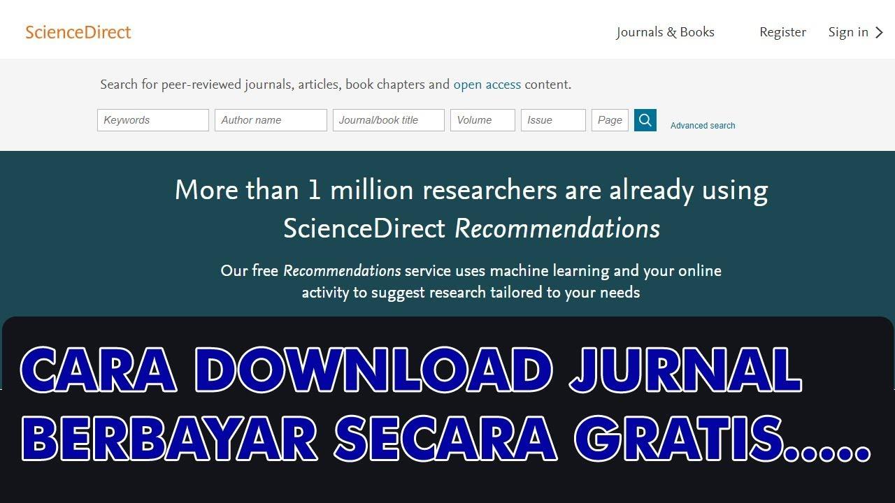 cara download jurnal internasional berbayar secara gratis