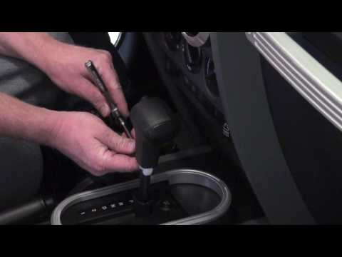 how to change shifter knob auto 2007