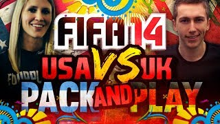 WORLD CUP FINAL'   FIFA 14   UK VS USA PACK AND PLAY