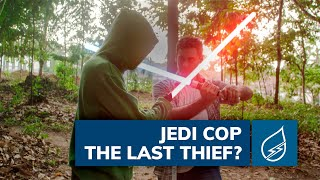 In that Star Wars video, see a jedi cop chasing a sith thief. Share...