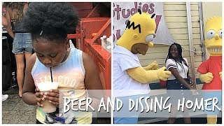 Trying Beer | Dejah Disses Homer Simpson | Universal Studios Orlando Vlog