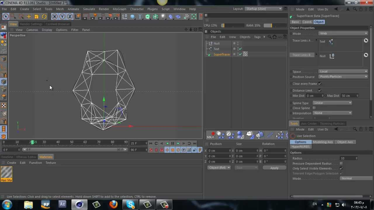 CINEMA 4D - plexus Effect - Tutorial (SuperTracer2012)