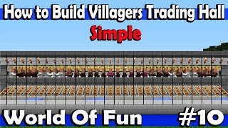 Minecraft World Of Fun Episode-10 How to Build Villagers Trading Hall
