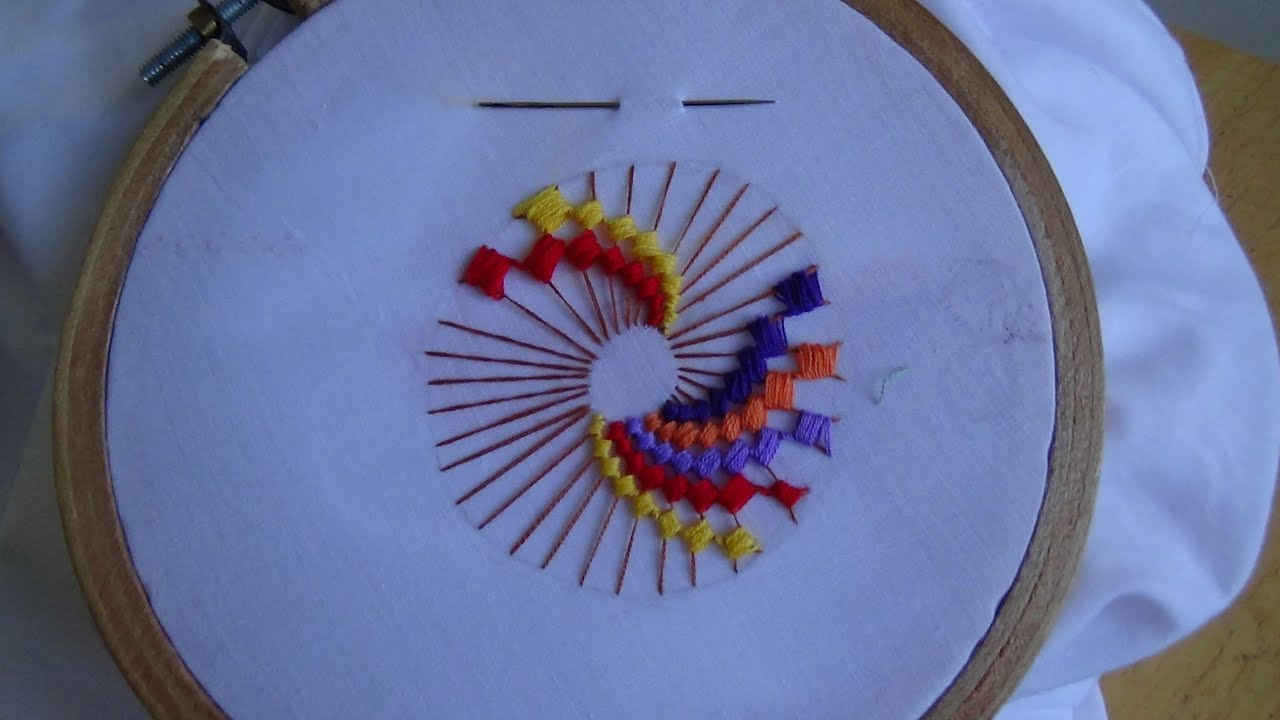 Hand embroidery colorwheel stitch youtube ccuart Choice Image