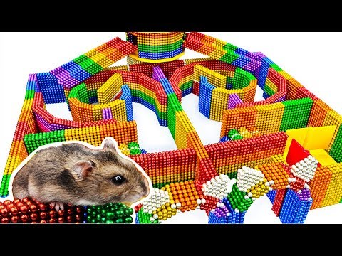 DIY - Build Amazing Hamster Maze Labyrinth With Magnetic Balls (Satisfying) - Magnet Balls